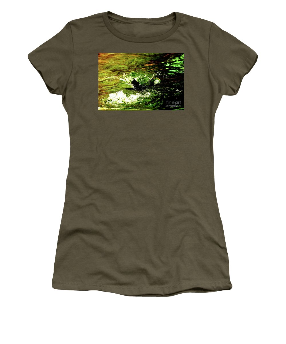 Water Women's T-Shirt (Athletic Fit) featuring the photograph Making A Splash by Lori Tambakis