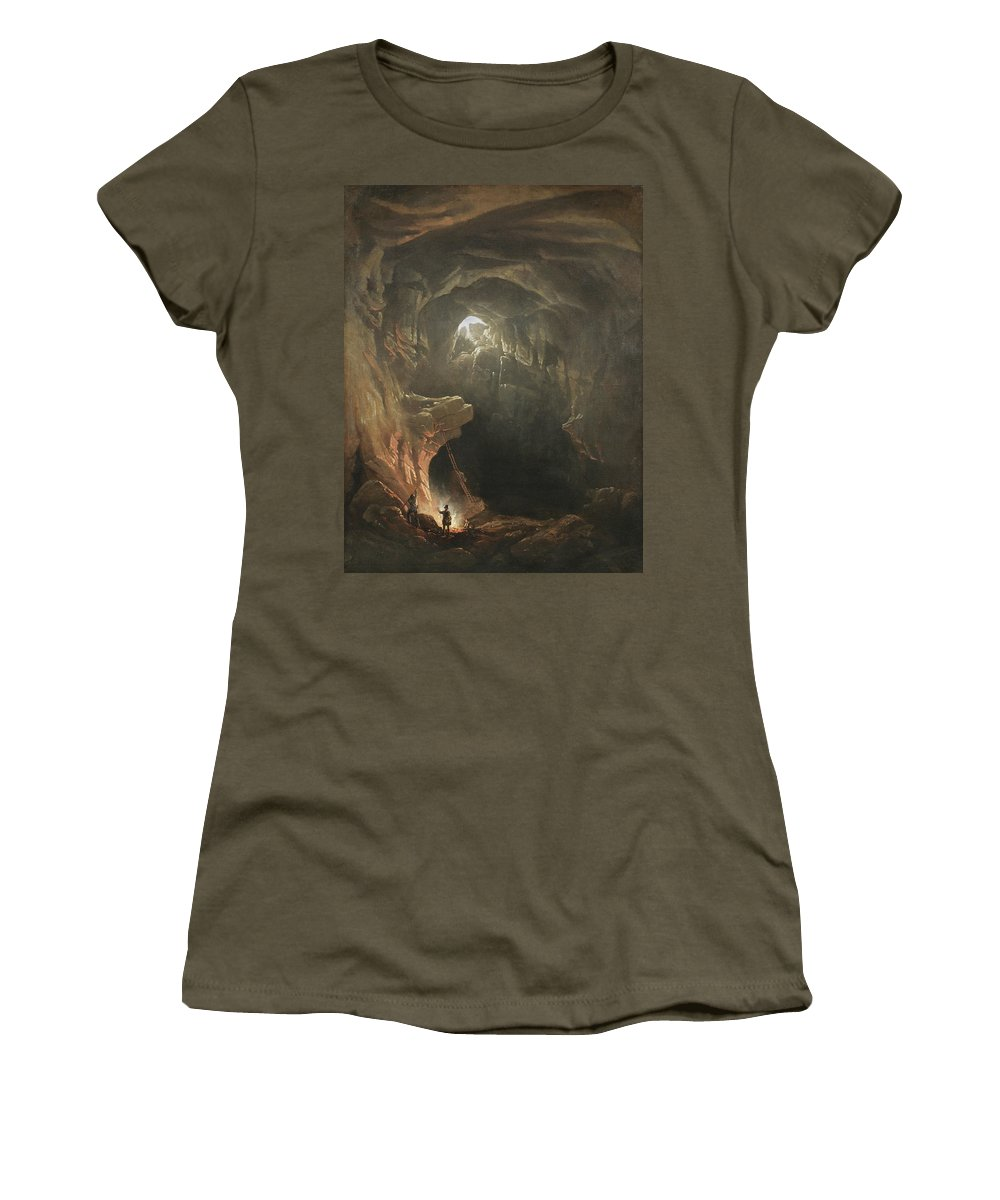 Mammoth Cave Women's T-Shirt (Athletic Fit) featuring the painting Mammoth Cave by Francis