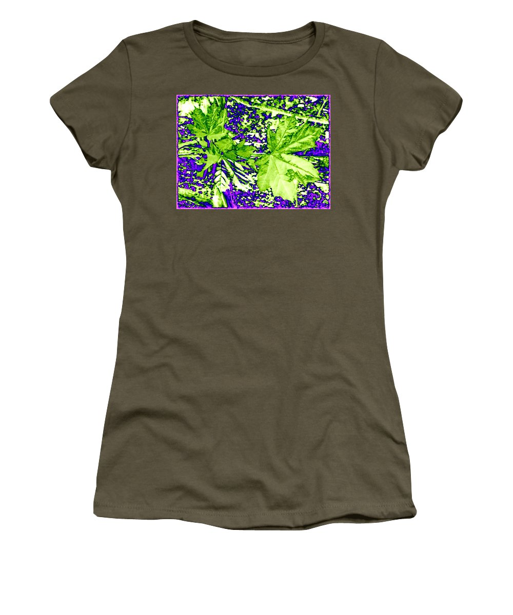 Maple Leaves Women's T-Shirt featuring the digital art Maple Mania 19 by Will Borden