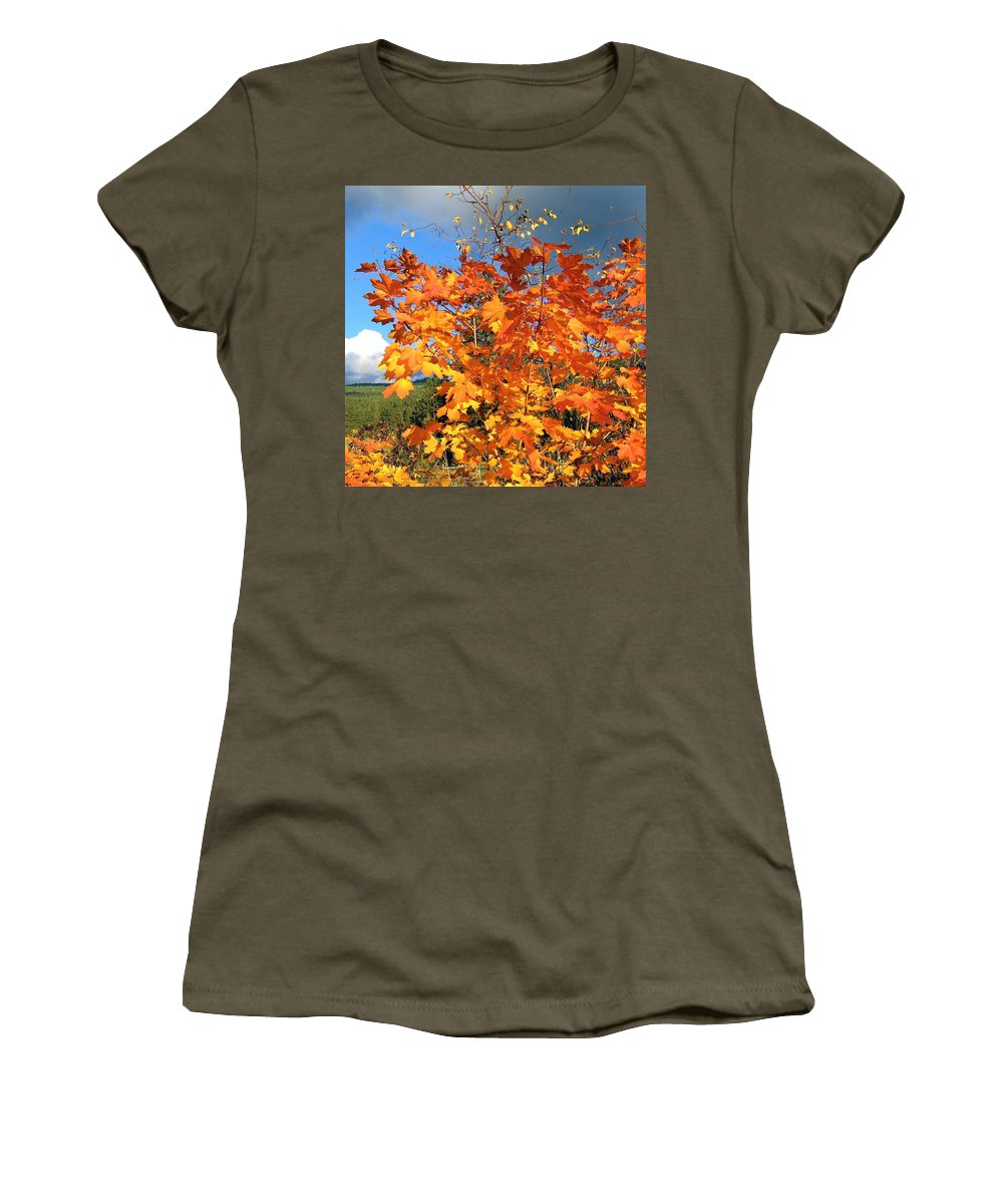 Autumn Women's T-Shirt featuring the photograph Maple Mania 8 by Will Borden
