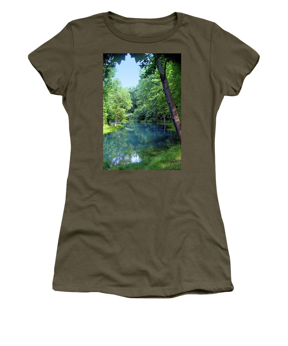Maramec Springs Park Women's T-Shirt featuring the photograph Maramec Springs 2 by Marty Koch