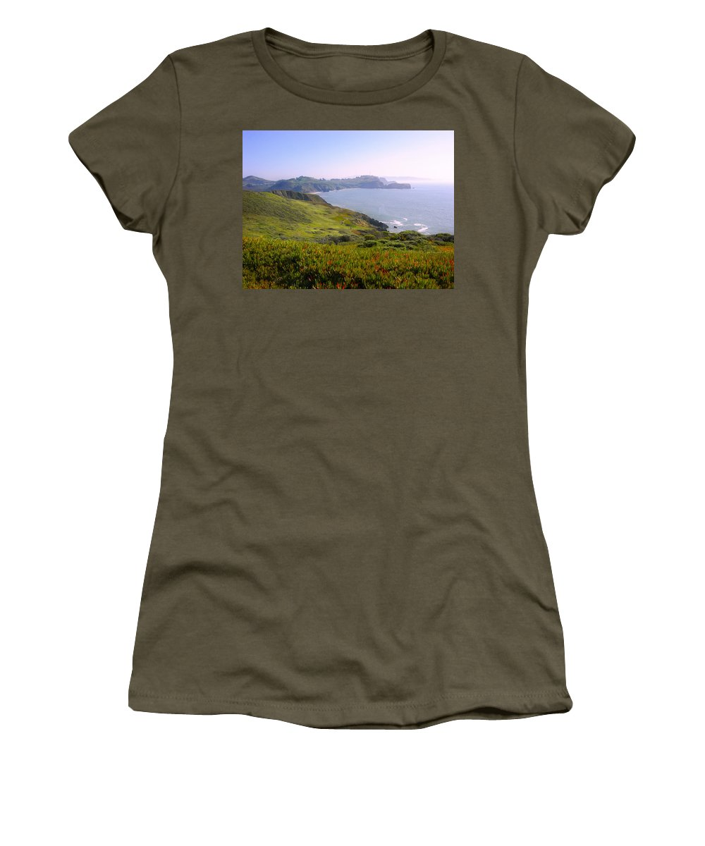 Landscape Women's T-Shirt (Athletic Fit) featuring the photograph Marin Headlands 2 by Karen W Meyer