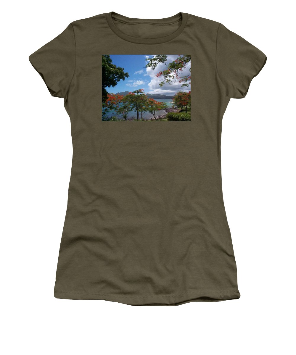 Donation Women's T-Shirt (Athletic Fit) featuring the photograph Martinique by Mary-Lee Sanders