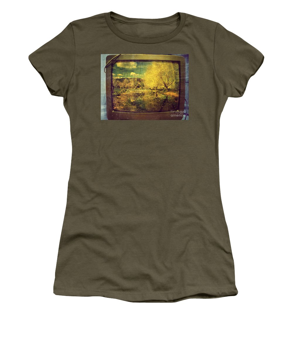 Television Women's T-Shirt featuring the photograph May 3 2010 by Tara Turner