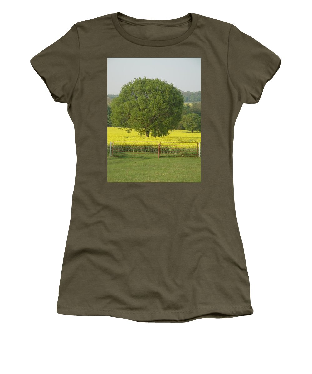Tree Women's T-Shirt featuring the photograph May Fields by Susan Baker