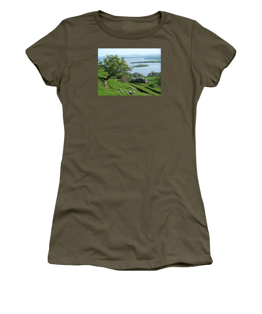 Ireland Women's T-Shirt (Athletic Fit) featuring the photograph May The Road Rise To Meet You by Teresa Mucha