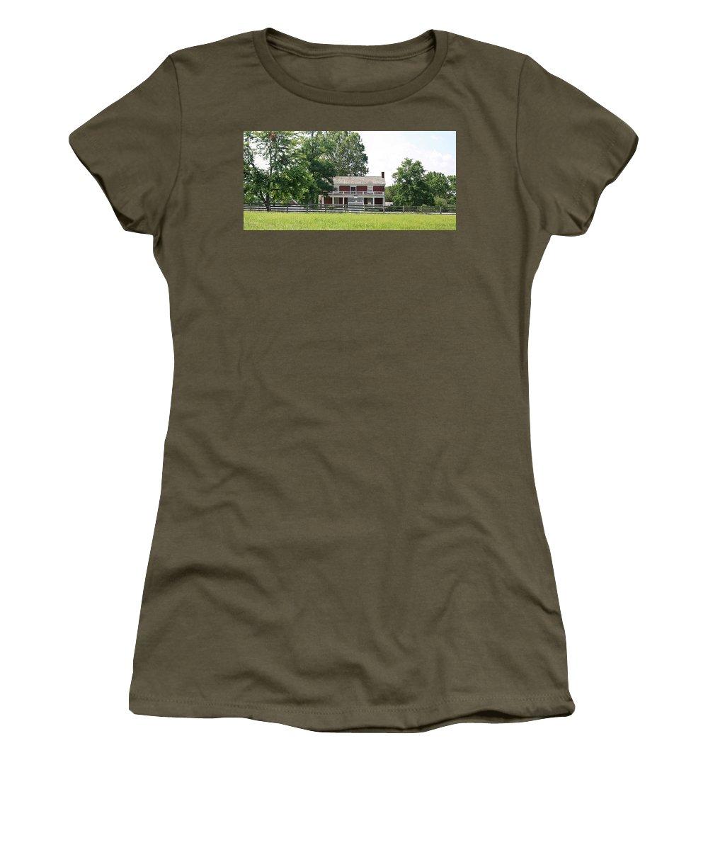 Appomattox Women's T-Shirt featuring the photograph Mclean House Appomattox Court House Virginia by Teresa Mucha