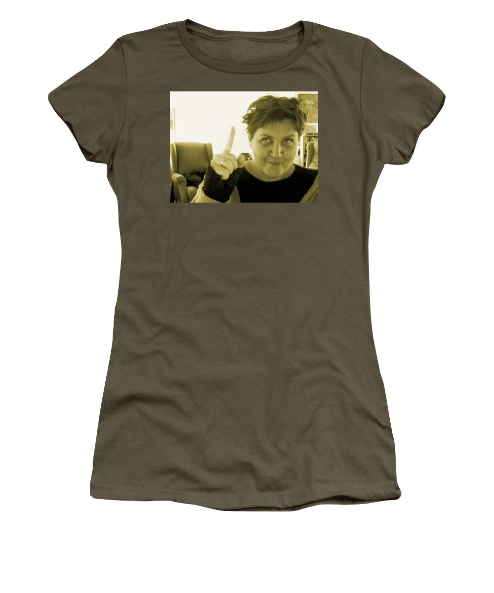 Women's T-Shirt (Athletic Fit) featuring the pyrography me by Veronica Jackson