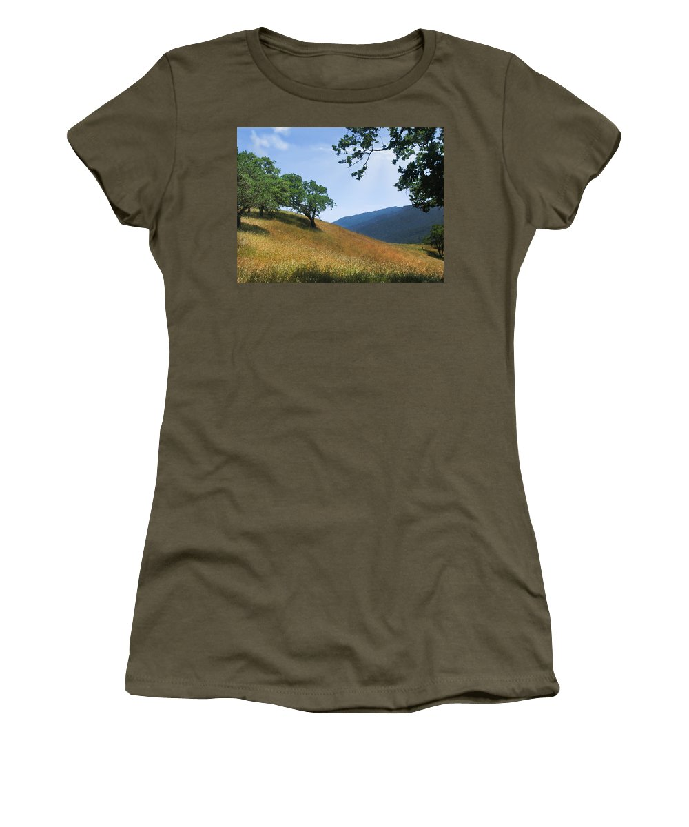 Landscape Women's T-Shirt (Athletic Fit) featuring the photograph Meadow View Summer by Karen W Meyer