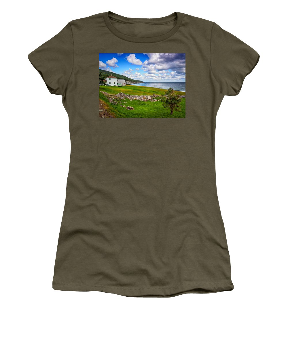 Cape Breton Women's T-Shirt featuring the photograph Meat Cove by Mark Llewellyn
