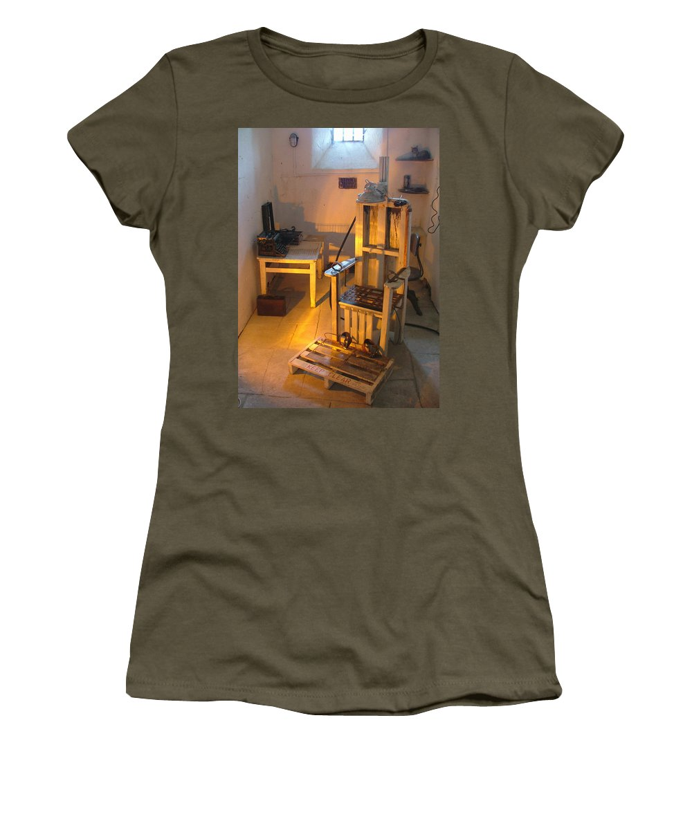 Halloween Women's T-Shirt featuring the photograph Medical Room by Heather Lennox