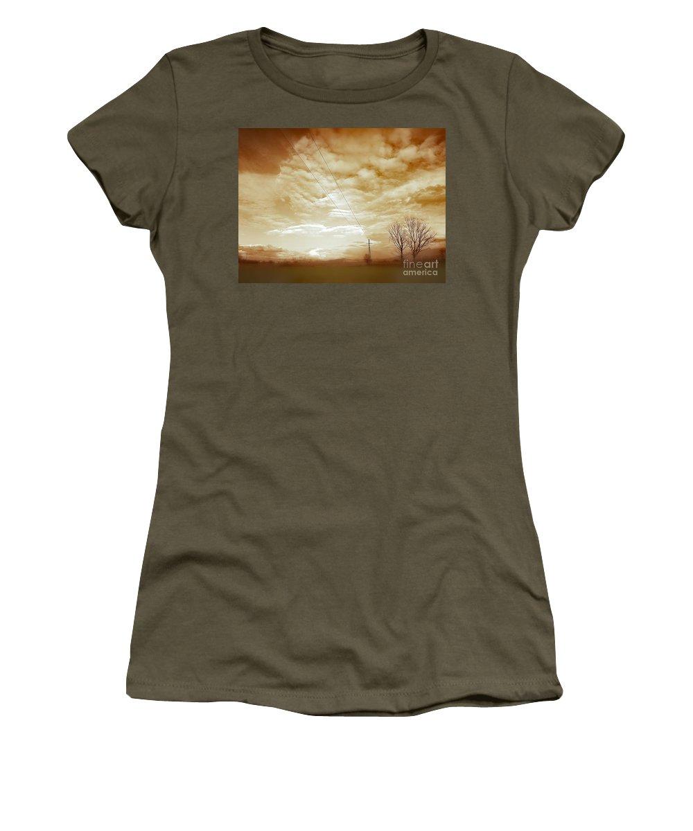 Eva Maria Nova Women's T-Shirt featuring the photograph Melting Cold by Eva Maria Nova