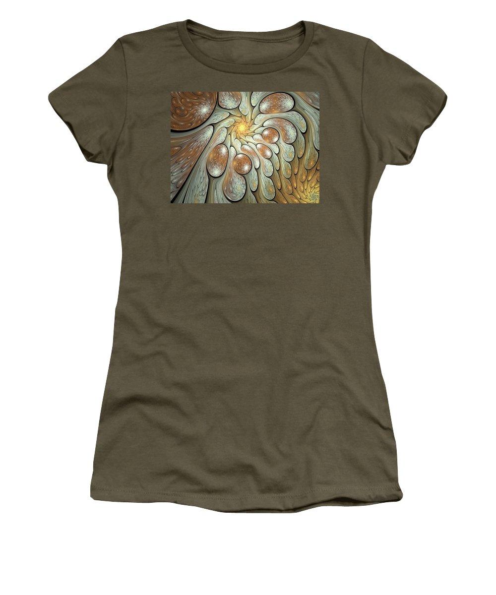 Fractal Women's T-Shirt (Athletic Fit) featuring the digital art Melting Motions by Amorina Ashton