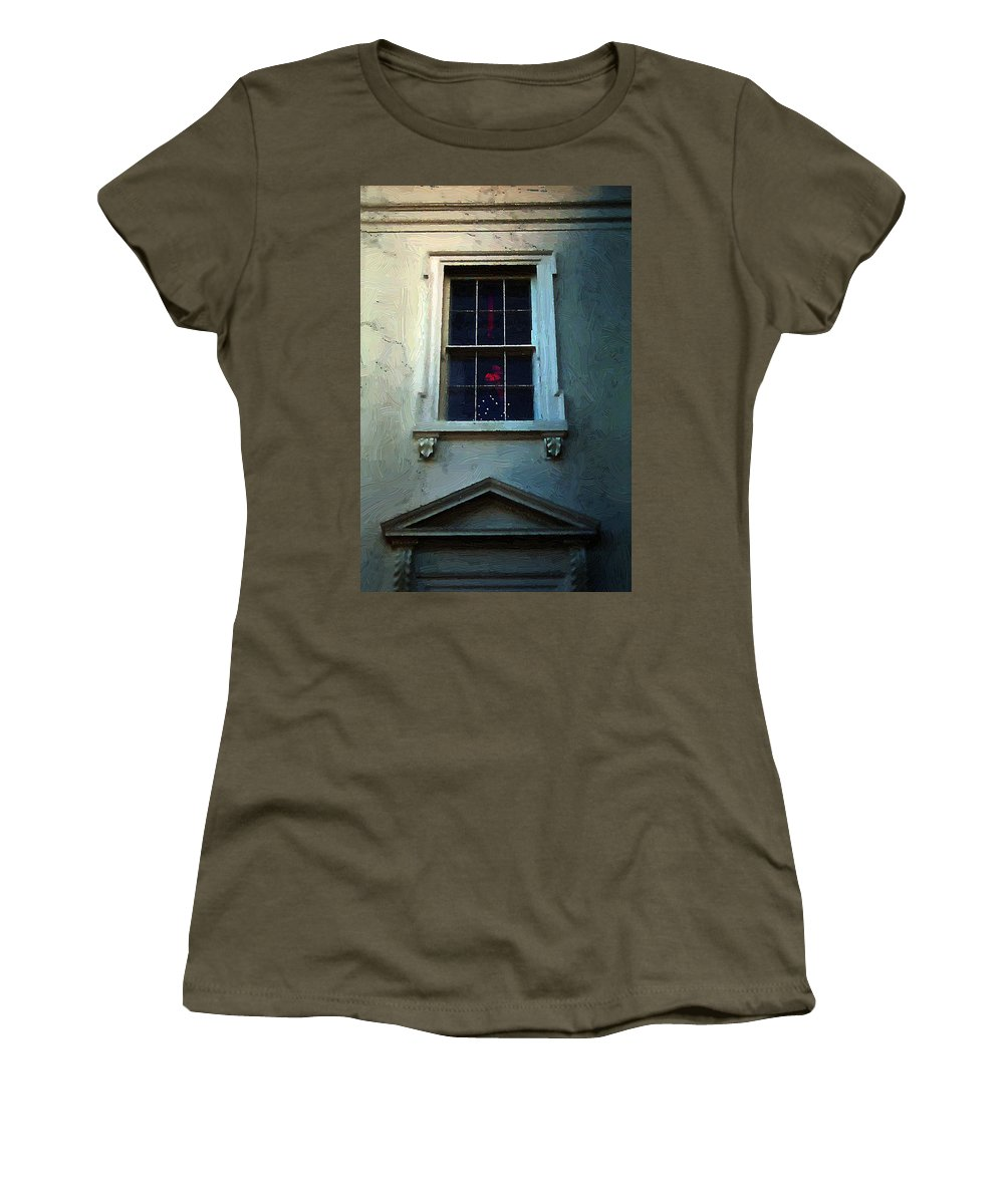 America Women's T-Shirt featuring the painting Merry Christmas America by RC DeWinter