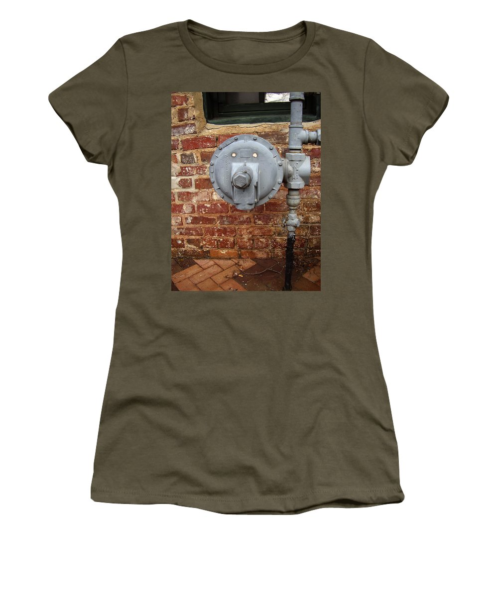 Meter Women's T-Shirt (Athletic Fit) featuring the photograph Meter In Athens Ga by Flavia Westerwelle