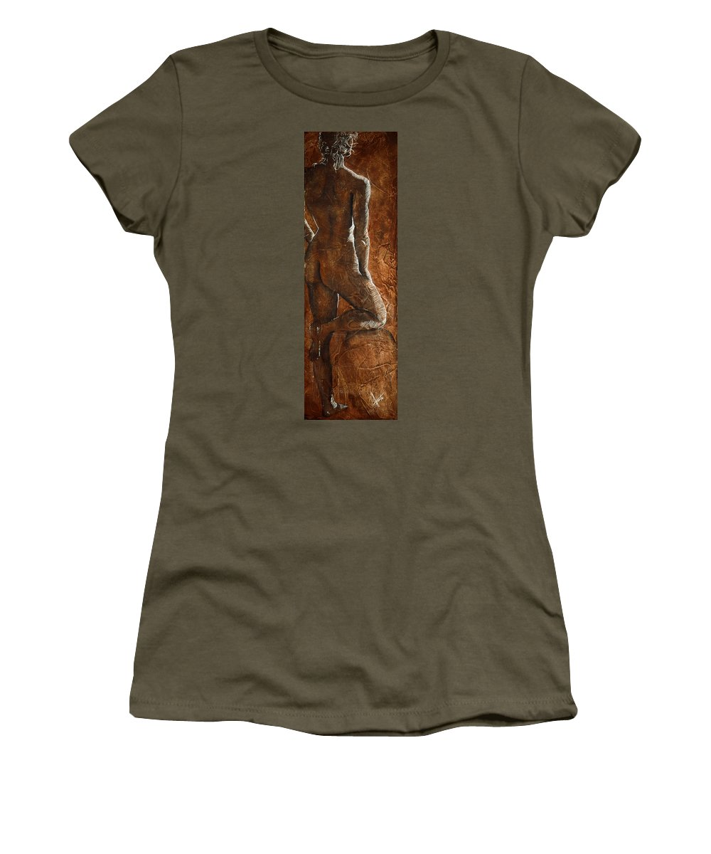 Nude Women's T-Shirt featuring the painting Mickey Xx by Richard Hoedl