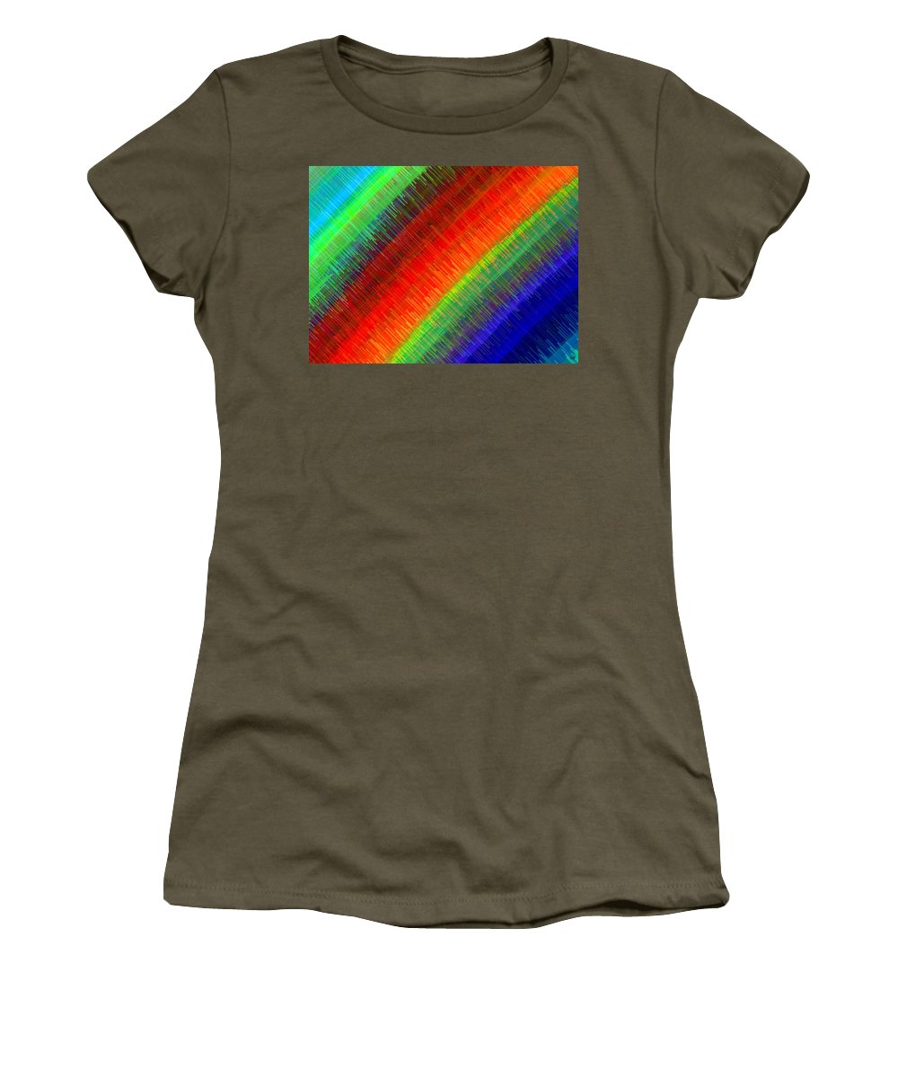 Micro Linear Women's T-Shirt featuring the digital art Micro Linear Rainbow by Will Borden