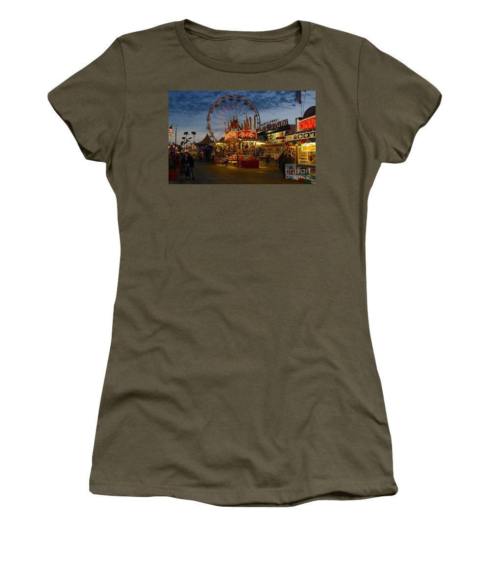 Midway Women's T-Shirt (Athletic Fit) featuring the photograph Midway by David Lee Thompson