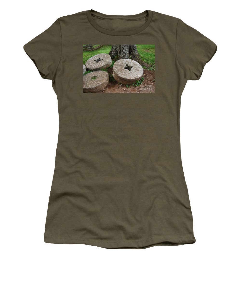 Mill Stone Women's T-Shirt featuring the photograph Mill Stone by Eric Liller