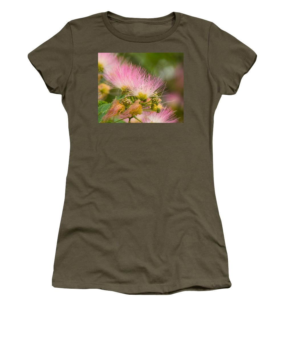 Flower Women's T-Shirt featuring the photograph Mimosa Flower by Austin Photography