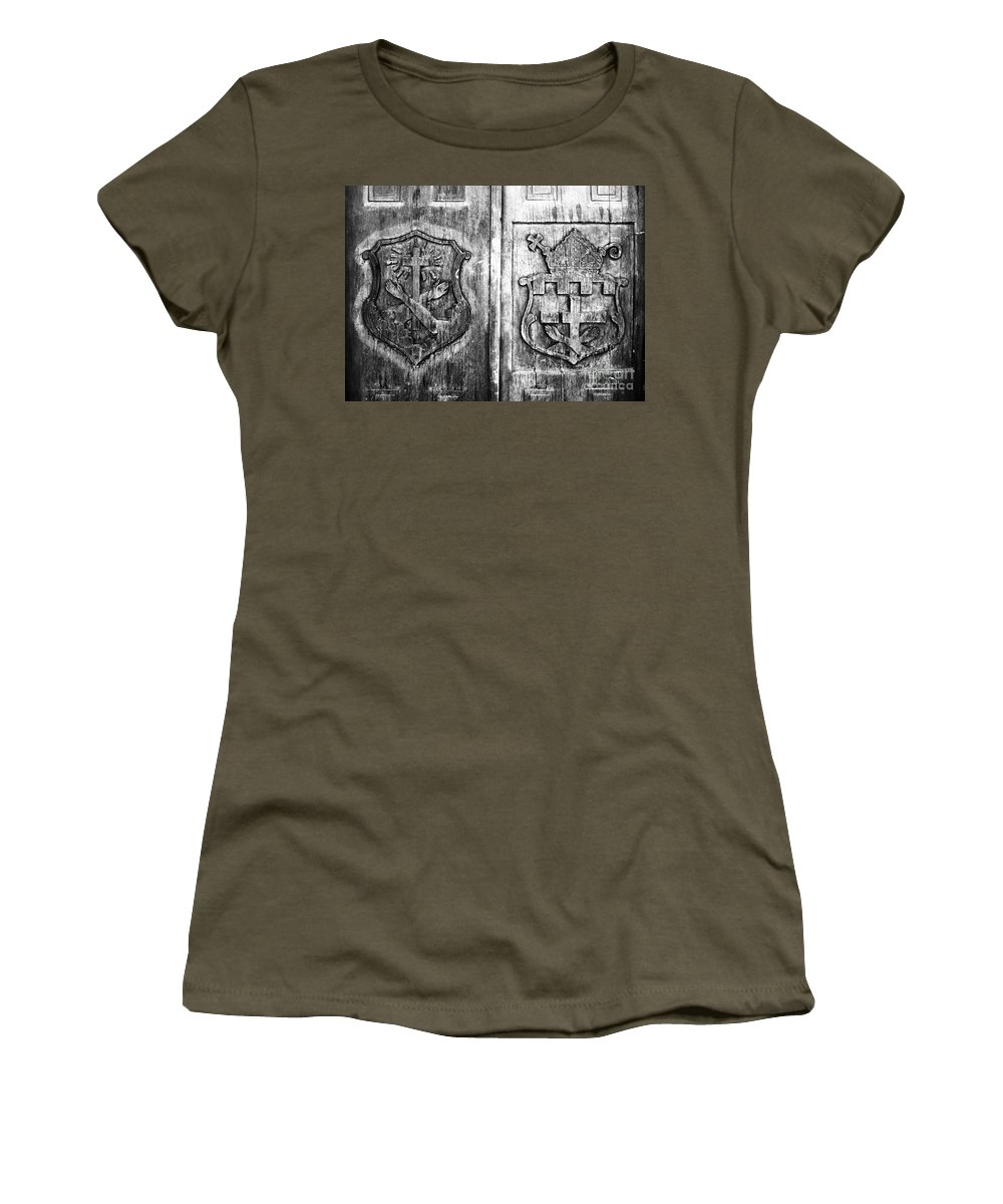 Mission Women's T-Shirt featuring the photograph Mission Doors by David Lee Thompson