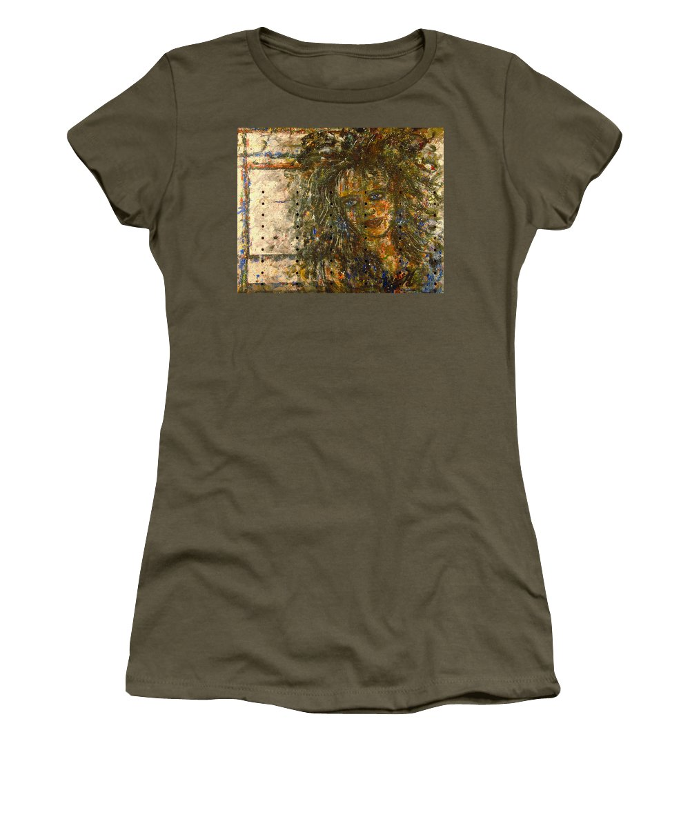 Expressionism Women's T-Shirt (Athletic Fit) featuring the painting Mistress by Natalie Holland