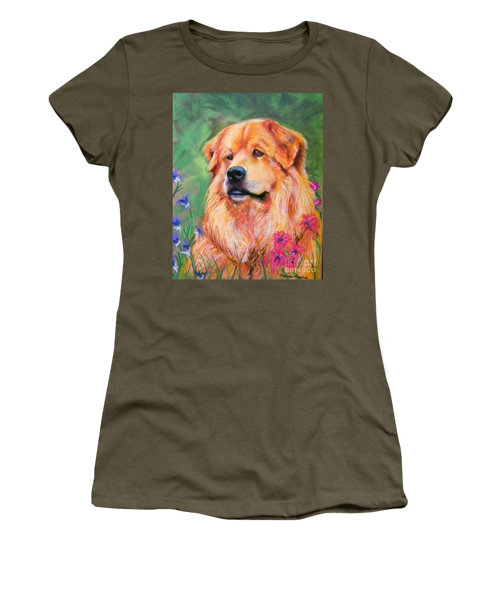 Chow Women's T-Shirt featuring the painting Molly by Frances Marino