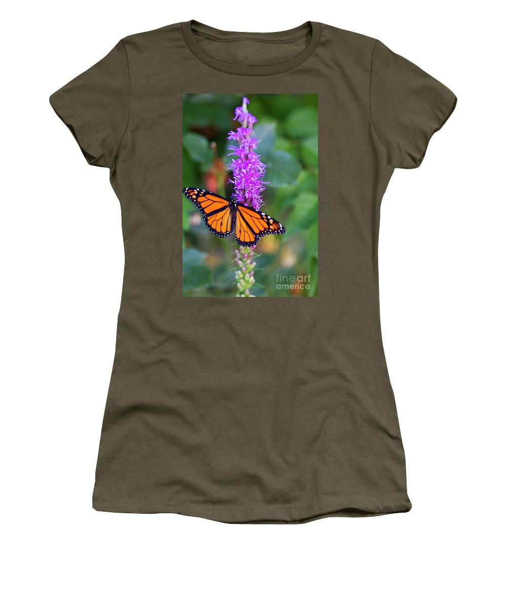 Landscape Women's T-Shirt (Athletic Fit) featuring the photograph Monarch Of The Garden by Douglas Kikendall