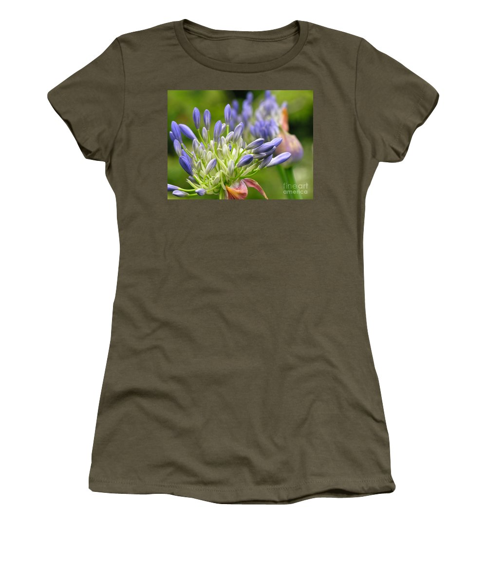 Blue Women's T-Shirt featuring the photograph Montana Purple And Blue by Diane Greco-Lesser