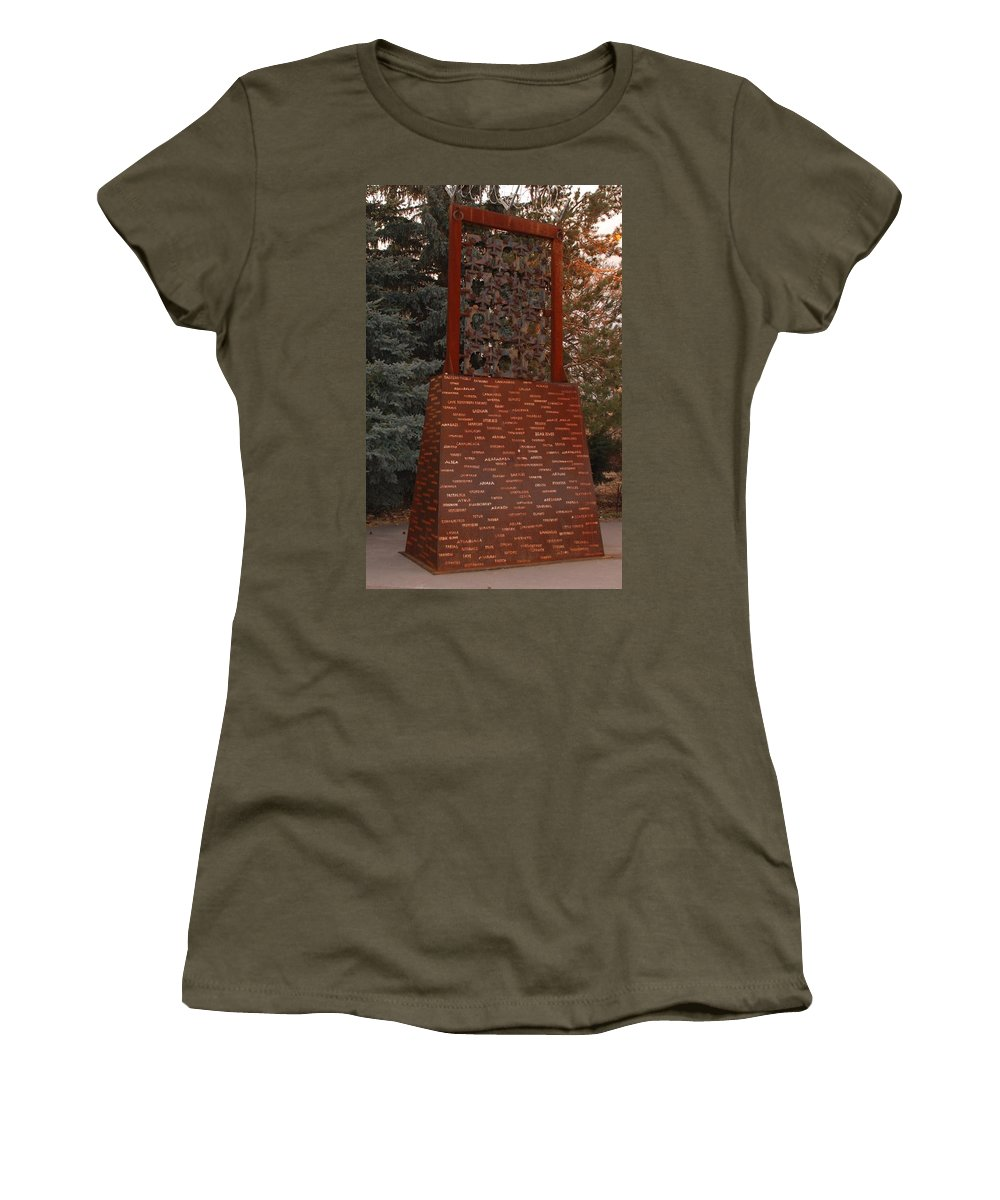 Monument Women's T-Shirt featuring the photograph Monument At N M State Captial by Rob Hans