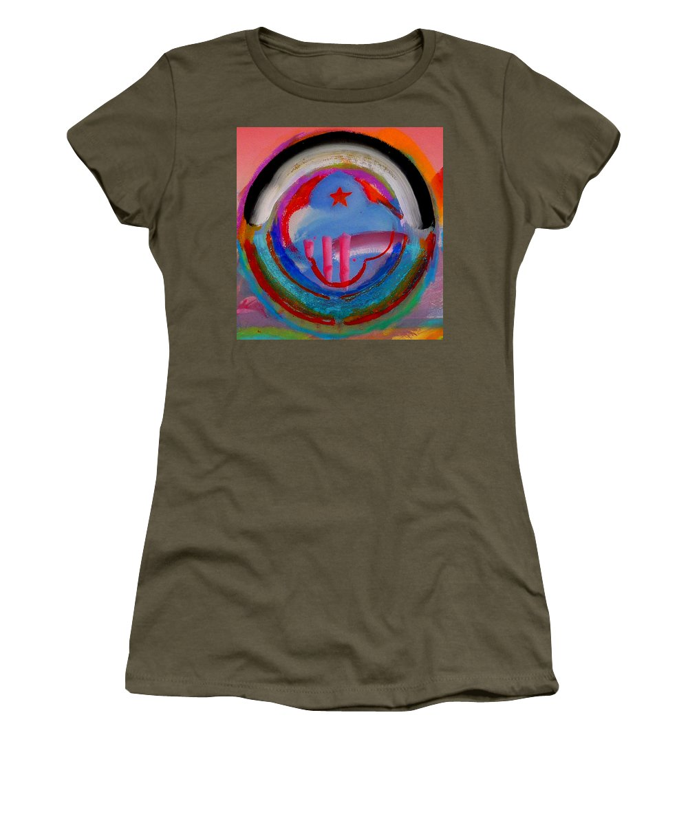 Logo Women's T-Shirt (Athletic Fit) featuring the painting Morning Light by Charles Stuart