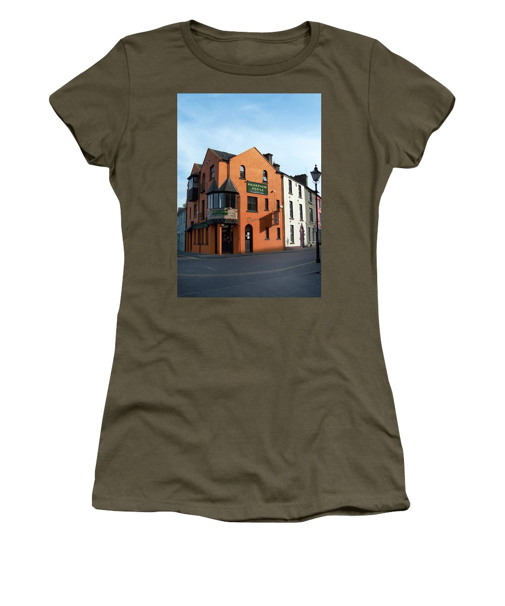 Ireland Women's T-Shirt featuring the photograph Mother India Restaurant Athlone Ireland by Teresa Mucha