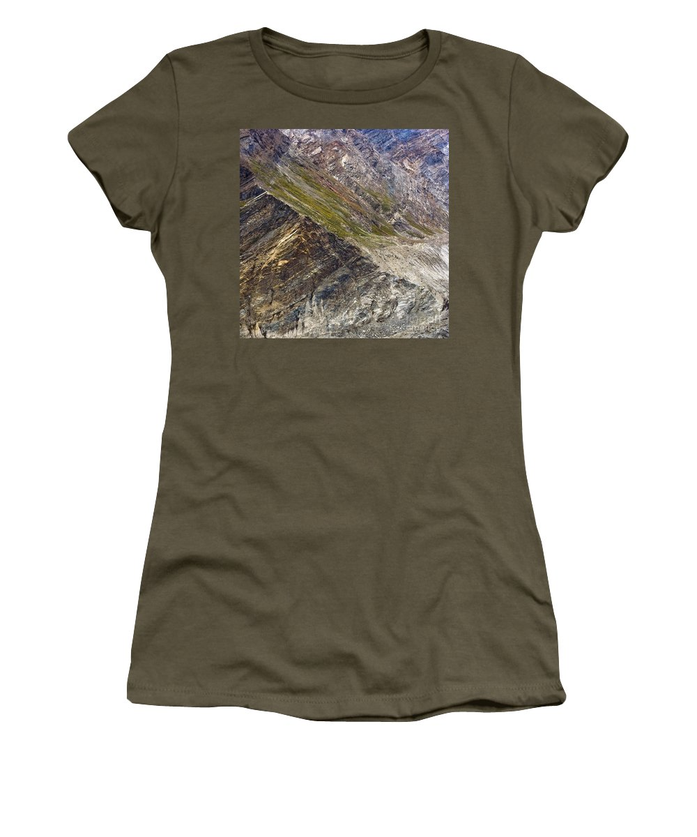 Mountain Women's T-Shirt featuring the photograph Mountain Abstract 1 by Hitendra SINKAR
