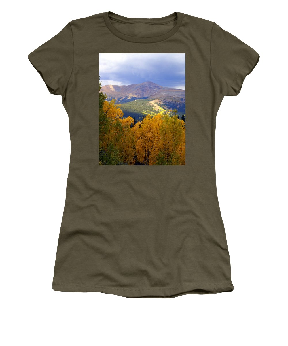Colorado Women's T-Shirt featuring the photograph Mountain Fall by Marty Koch