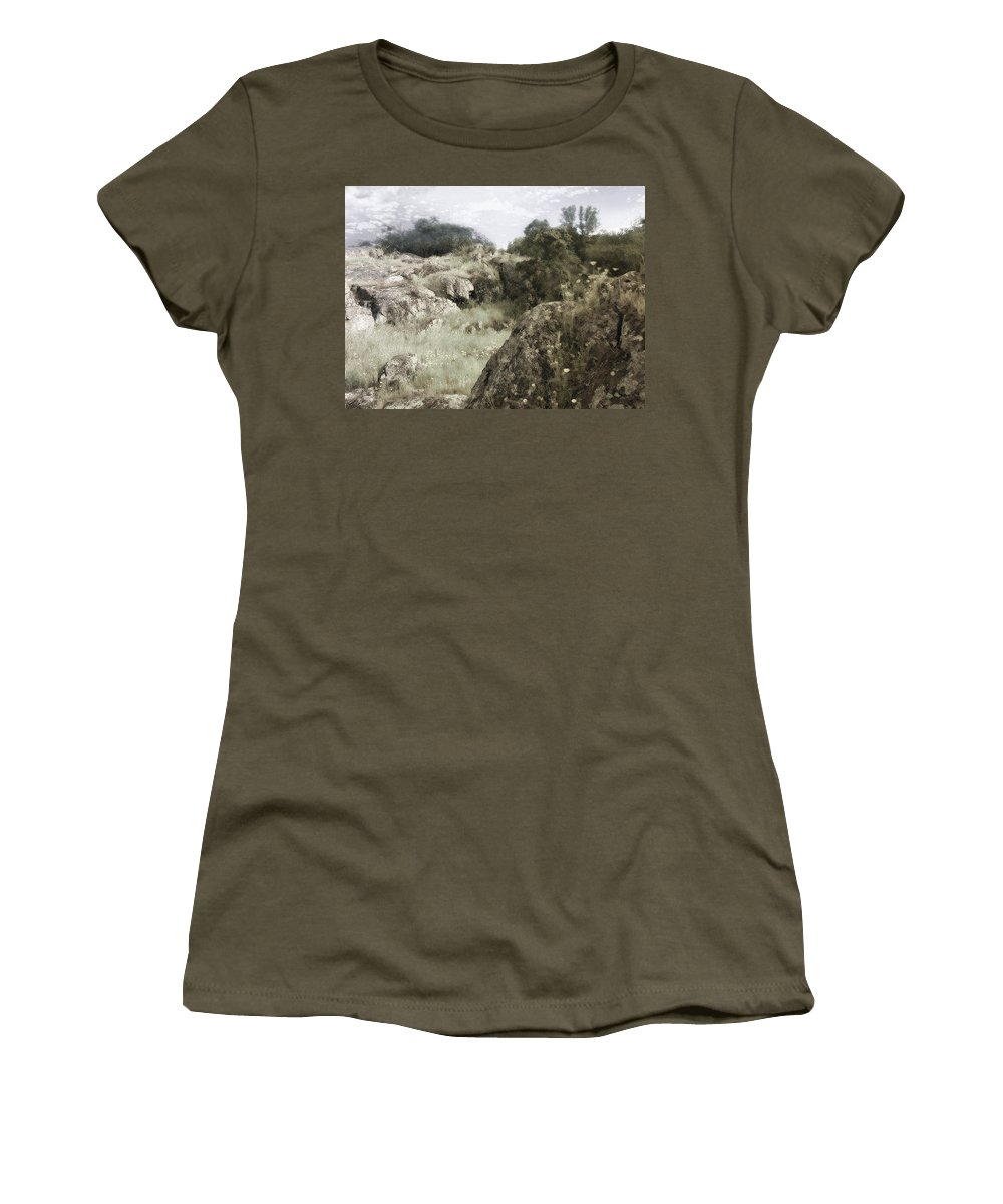 Landscape Women's T-Shirt (Athletic Fit) featuring the photograph Mountain Lion Country by Karen W Meyer