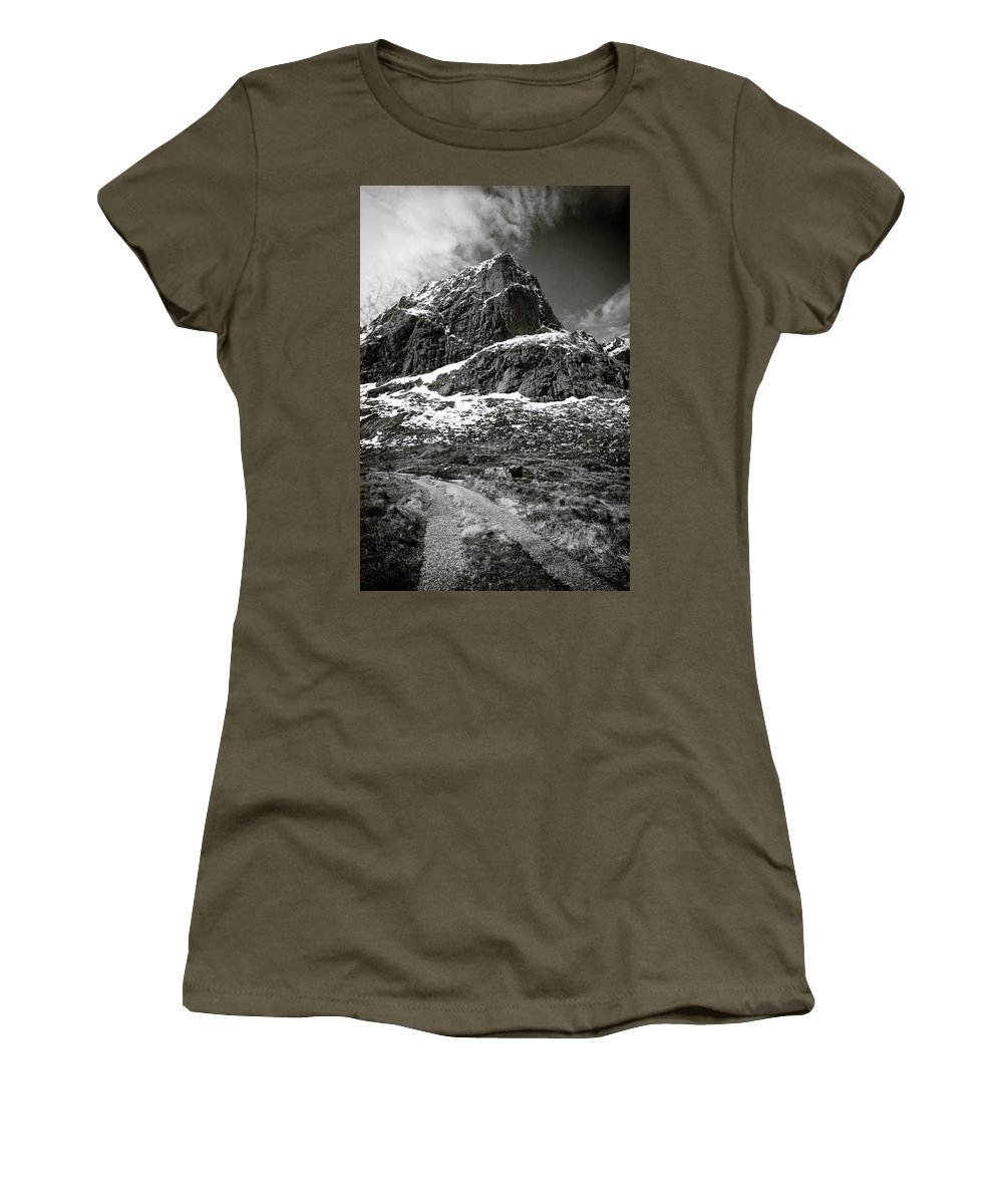 Mountains Women's T-Shirt (Athletic Fit) featuring the photograph Mountain Track by Dave Bowman
