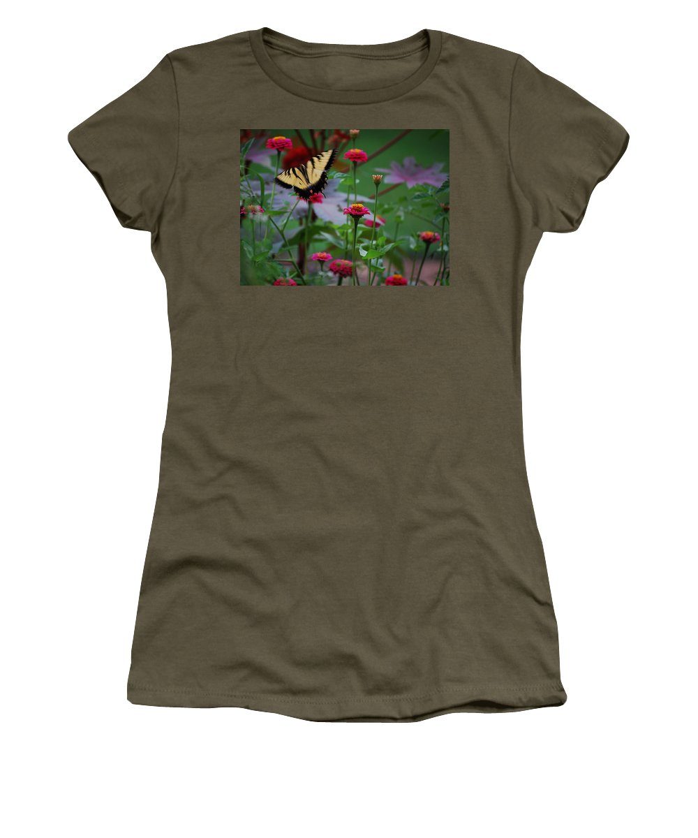 Butterfly Women's T-Shirt featuring the photograph Move On. by Robert Meanor