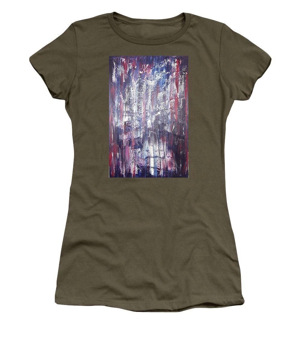 Moveonart! Digital Gallery Women's T-Shirt featuring the painting Moveonart Deep Calling Deep by Jacob Kanduch