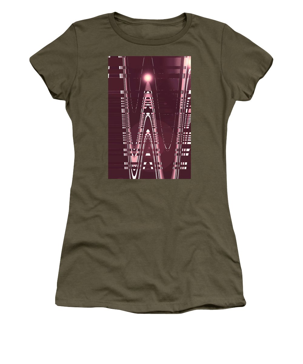 Moveonart! Digital Gallery Lower Nob Hill San Francisco California Jacob Kanduch Women's T-Shirt featuring the digital art Moveonart New American Indian Architecture 3 by Jacob Kanduch
