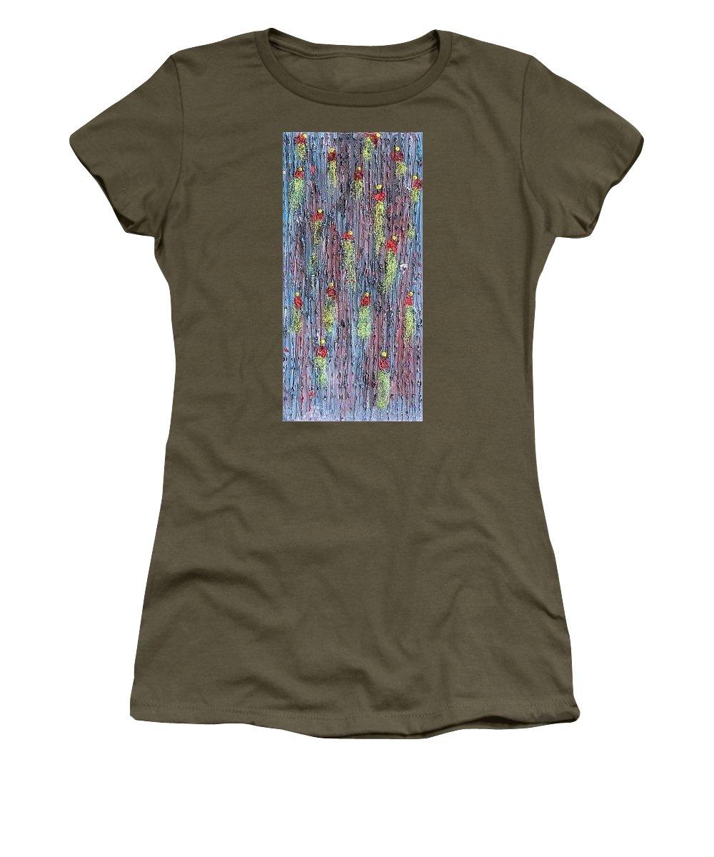 Moveonart! Digital Gallery Women's T-Shirt featuring the painting Moveonart Rinats Painting by Jacob Kanduch