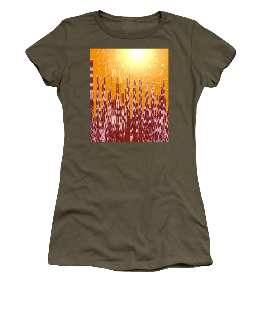 Moveonart! Global Gathering -- Jacob Kane -- Omnetra Women's T-Shirt featuring the digital art Moveonart Urbanlite by Jacob Kanduch