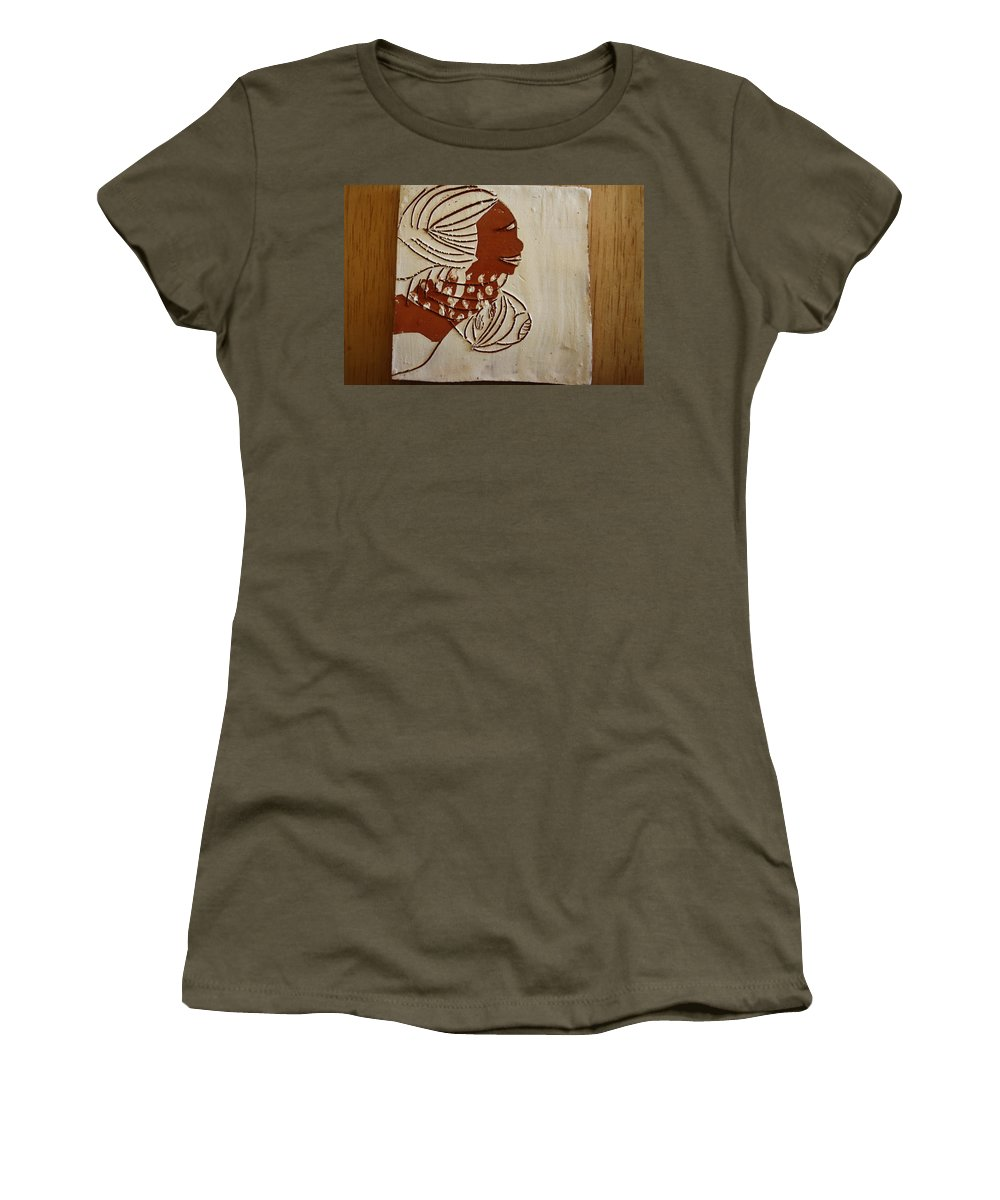 Jesus Women's T-Shirt (Athletic Fit) featuring the ceramic art Mums Little Miracle - Tile by Gloria Ssali