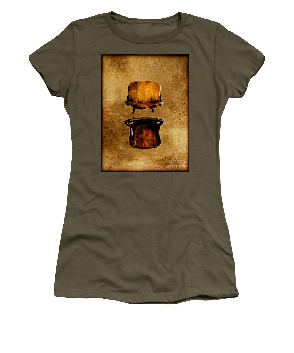 Concrete Women's T-Shirt (Athletic Fit) featuring the photograph My Arms Were Around You And I Hoped That You Wouldnt Hurt Me by Dana DiPasquale