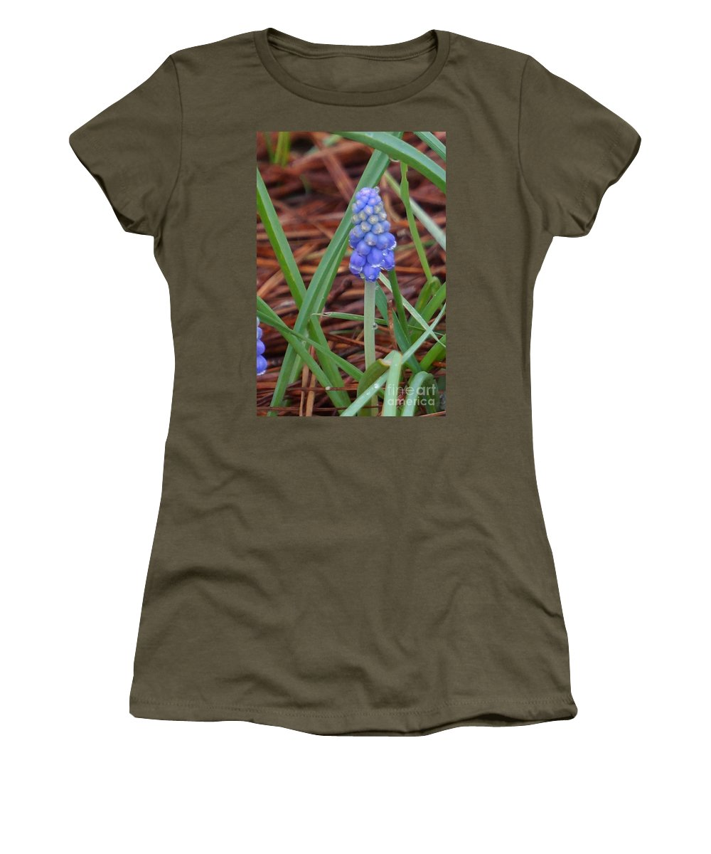 Bluebells Women's T-Shirt featuring the photograph My First Bluebells by Maxine Billings