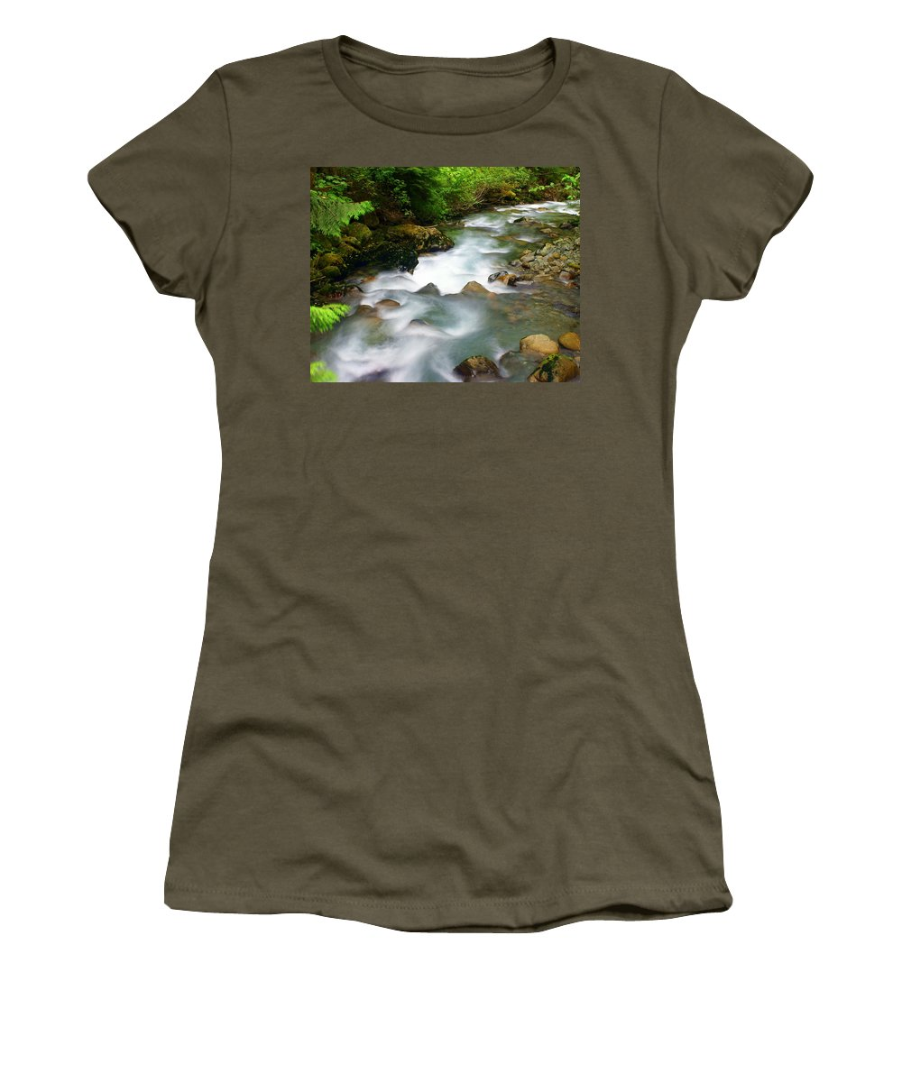 Creek Women's T-Shirt featuring the photograph Mystic Creek by Marty Koch