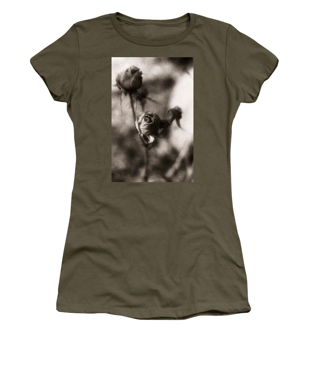 Infrared Women's T-Shirt (Athletic Fit) featuring the photograph Mystic Rose by Marilyn Hunt