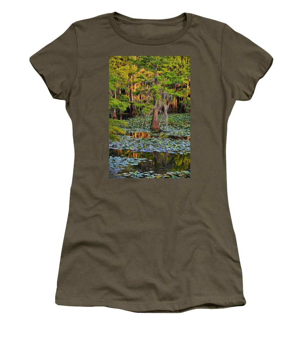 Bog Women's T-Shirt featuring the photograph Naked by Skip Hunt