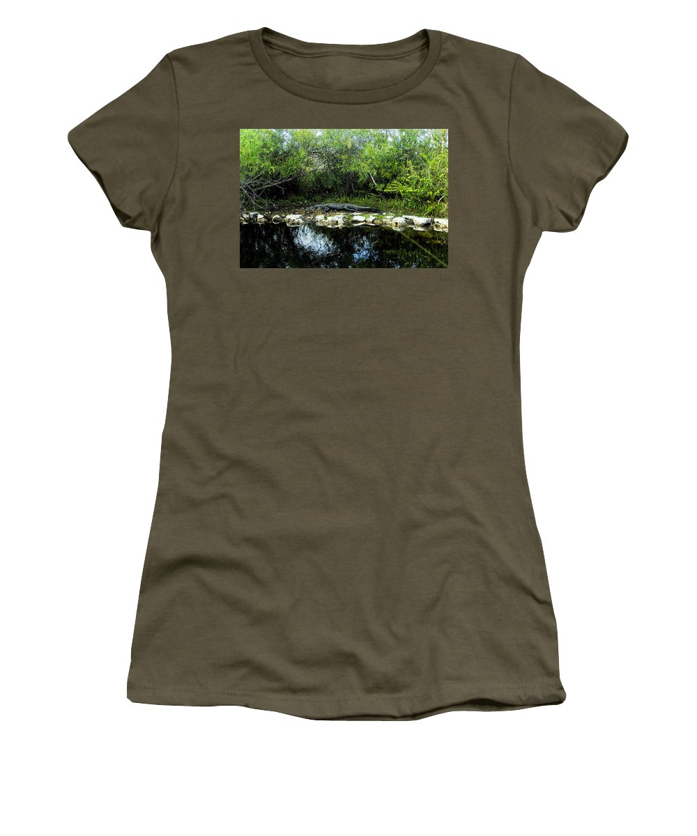 Art Women's T-Shirt featuring the painting Native Floridian by David Lee Thompson