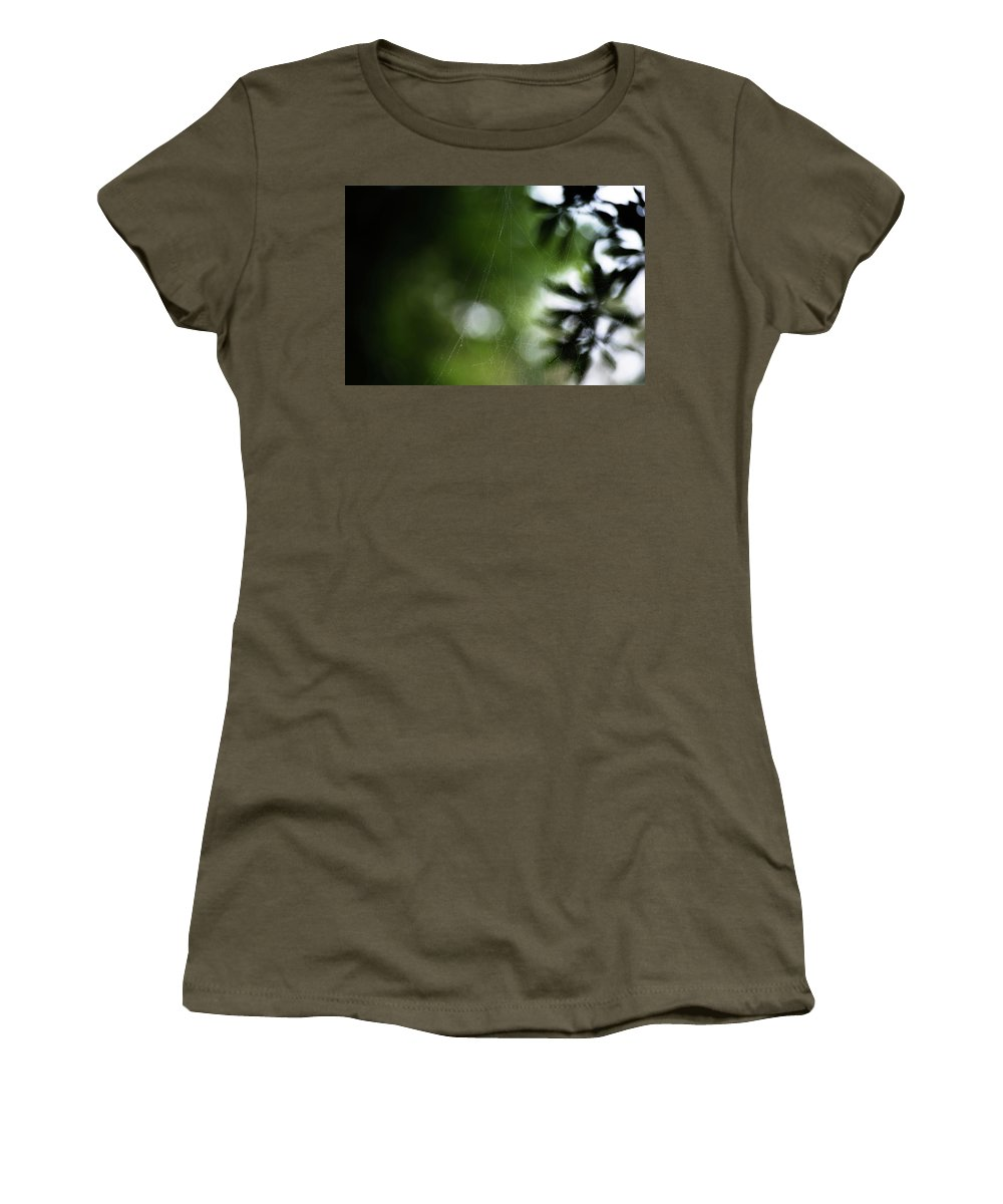 Spiderweb Women's T-Shirt (Athletic Fit) featuring the photograph Natural Geometry by Benjamin Dunlap