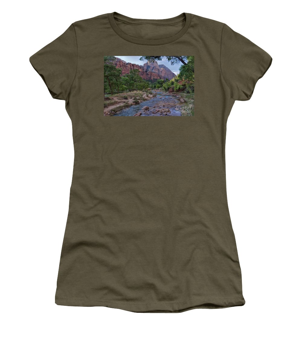 Utah Women's T-Shirt featuring the photograph Morning Hike by Peggy Hughes